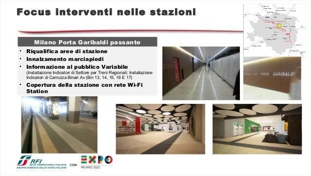 La rete ferroviaria potenziata per expo milano 2015 - Milano porta garibaldi station ...