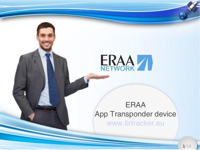 1/13 ERAA App Transponder device www.tirtracker.eu