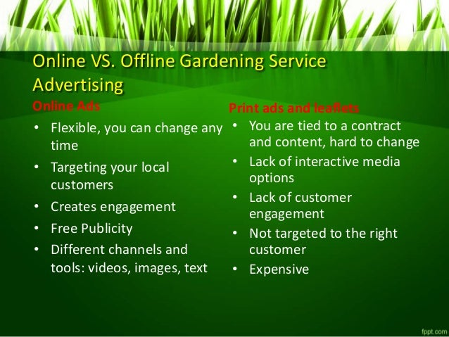 4. Online VS. Offline Gardening Service Advertising ...