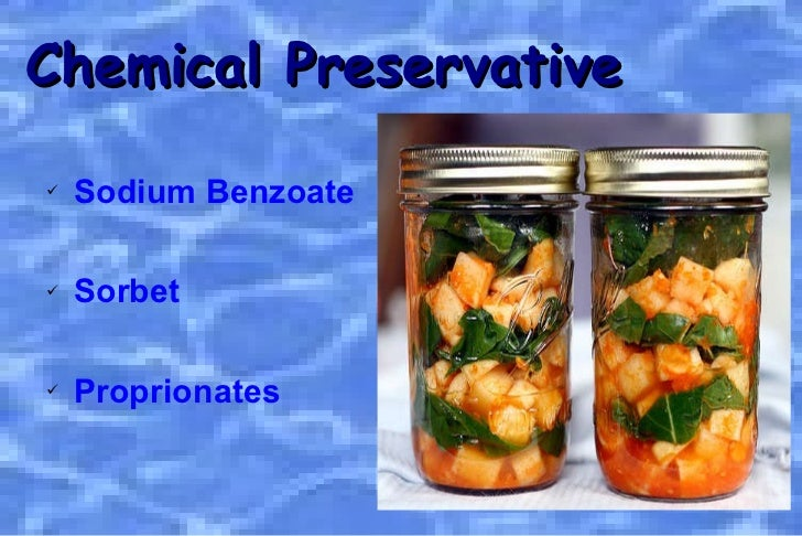 chemical food preservation Historical origins of food preservation brian a nummer, phd national center for home food preservation may 2002 introduction the astonishing fact about food preservation is that it permeated every culture at nearly every moment in time.