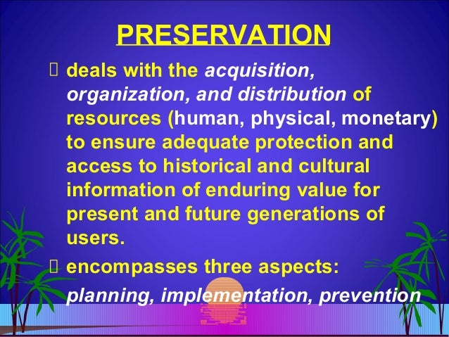 """preservation vs conservation Conservation preservation vs conservation 2 earth is composed of many different ecosystems and each one is a """"dynamic complex of plant, animal, and micro-organism communities interacting with the non-living environment as a functional unit (protecting threatened ecosystems, 2004)."""