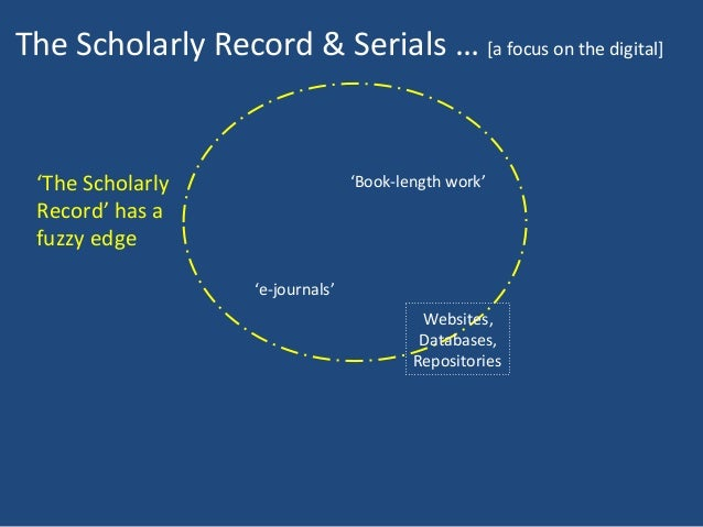 Preserving the Integrity of the Scholarly Record Slide 3