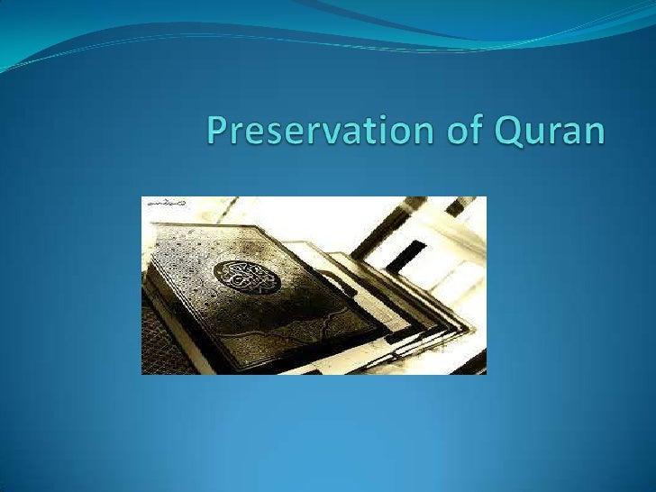 Preservation of Quran<br />