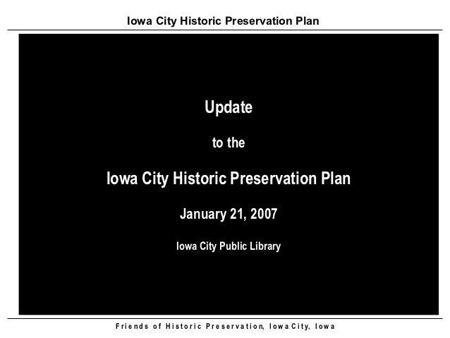 Iowa City Historic Preservation Plan                                  Update                                     to theIow...