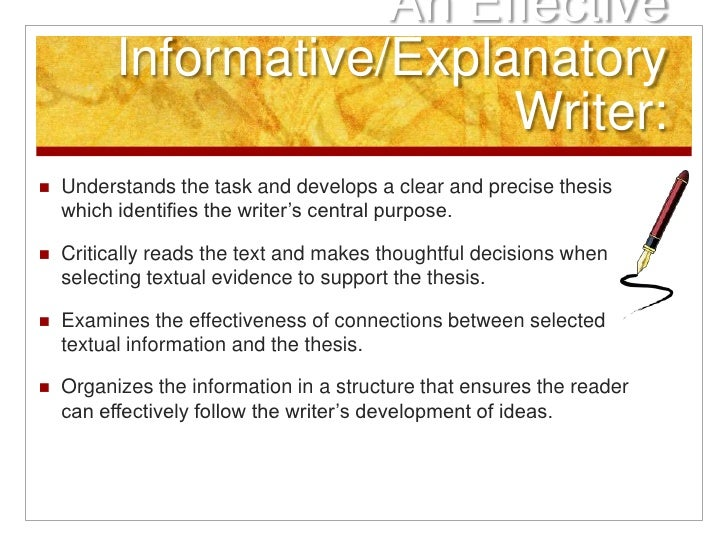 informative process essay writing