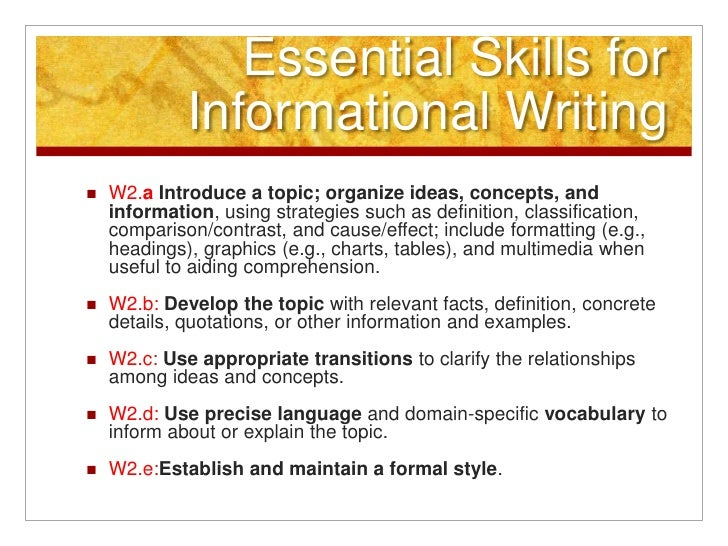 Common Core Informative/Explanatory Writing
