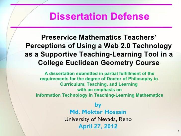 math dissertation defense