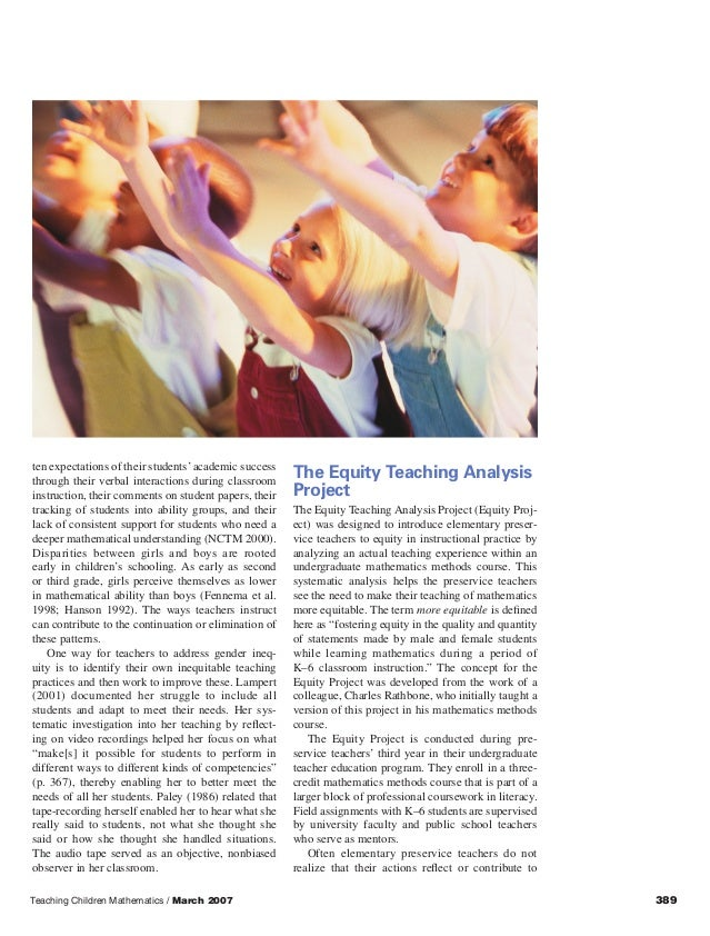 an analysis of teaching mathematics in children Mixed methods data analysis showed that teachers/teacher-trainees do not use children's literature in mathematics teaching, but they still.