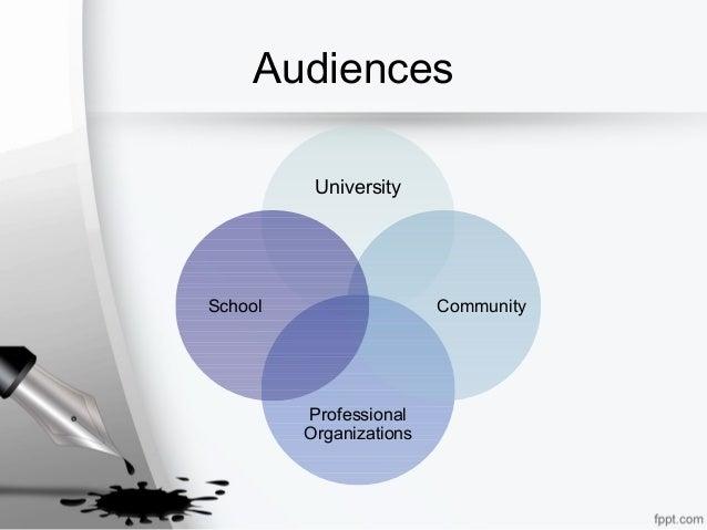 Audiences University Professional Organizations CommunitySchool