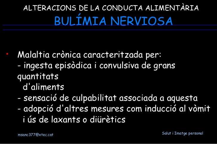 Alteracions de la conducta alimentària Slide 2