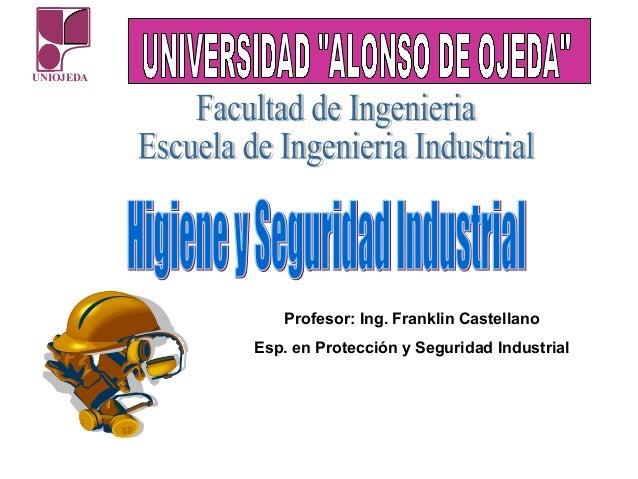 Higiene Y Seguridad Industrial Prevención De Riesgos Laborales