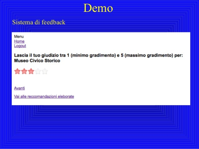 DemoSistema di feedback