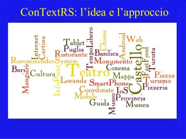 ConTextRS: l'idea e l'approccio