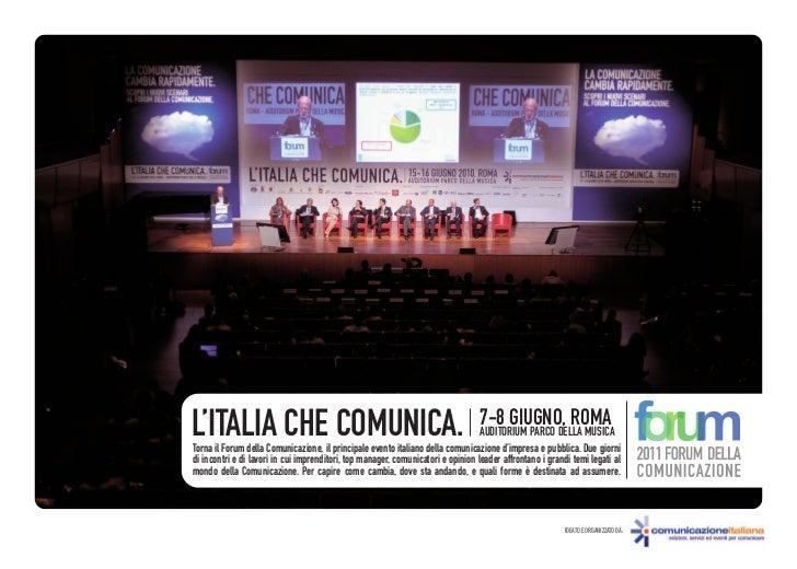L'ITALIA CHE COMUNICA.                                                           7-8 GIUGNO, ROMA                         ...