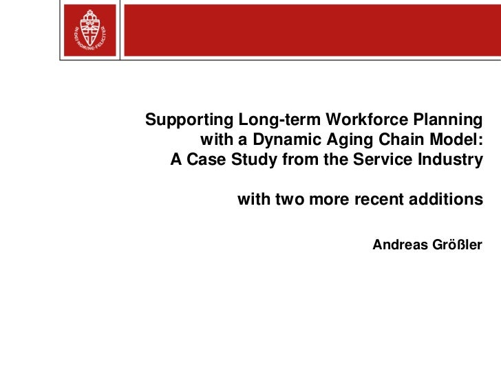 Supporting Long-term Workforce Planning      with a Dynamic Aging Chain Model:  A Case Study from the Service Industry    ...