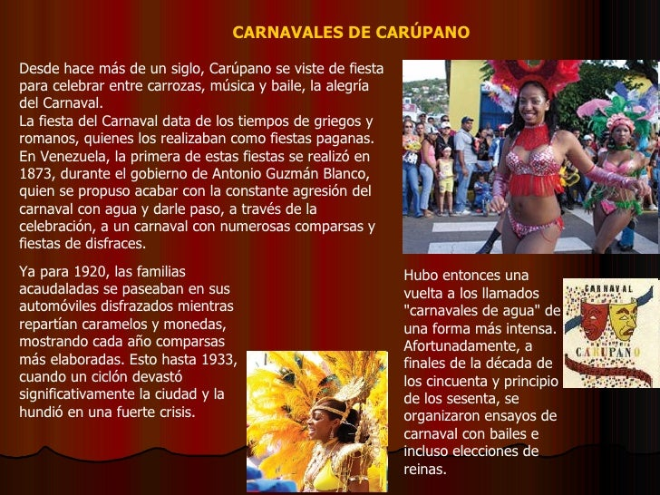 Desde hace más de un siglo, Carúpano se viste de fiesta para celebrar entre carrozas, música y baile, la alegría del Carna...
