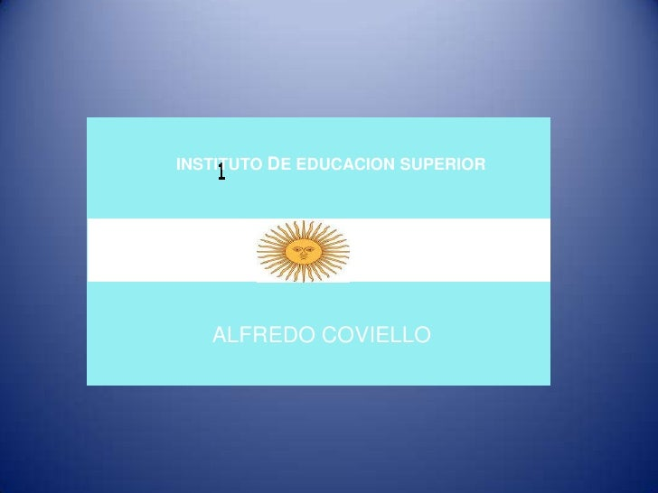 INSTITUTO DE EDUCACION SUPERIOR<br />ALFREDO COVIELLO<br />