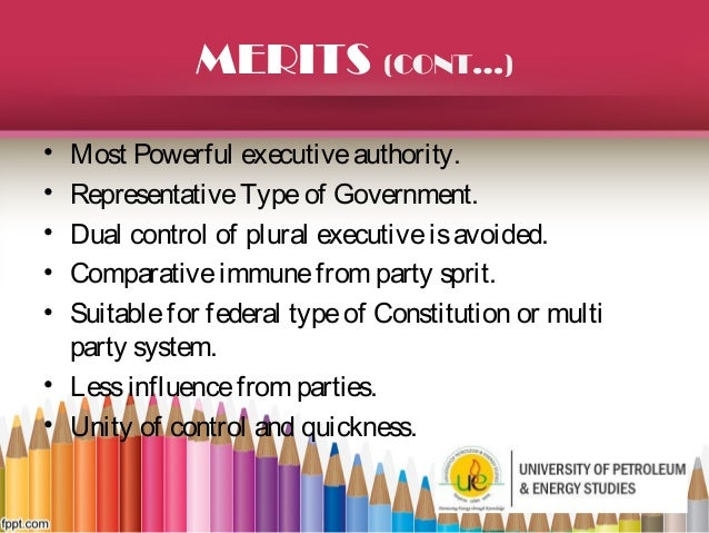 merits of presidential form of government