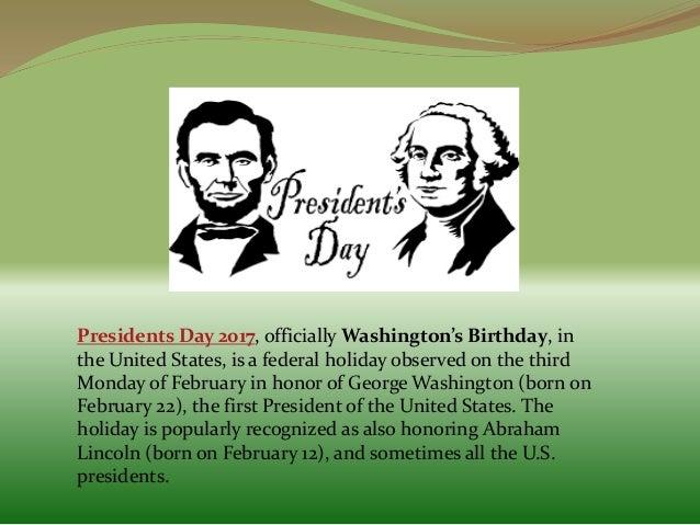 Presidents Day 2017