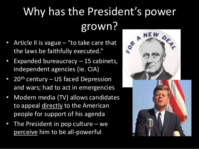 powers of the presidency Background it is safe to say that a respect for the principle of separation of powers is deeply ingrained in every american the nation subscribes to the original.