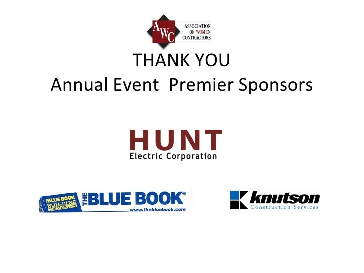 THANK YOU Annual Event  Premier Sponsors
