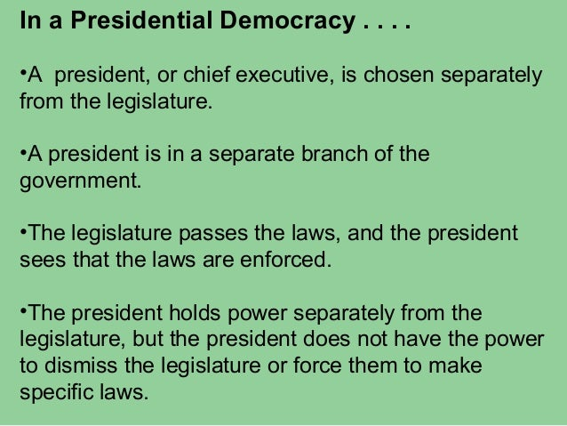 Presidential And Parliamentary Democracies