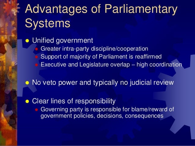 parliamentary vs presidential systems of government Parliamentary system of the government parliamentarism is the most widely adopted css forums tuesday, march 27, 2018 08 parliamentary vs presidential system.