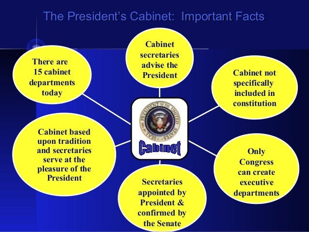 Presidential Cabinet Departments | Bar Cabinet
