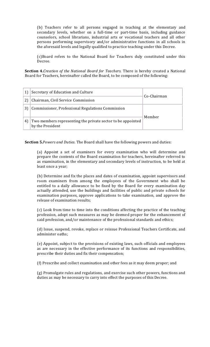 presidential decree no professionalization of teachers 2 b teachers