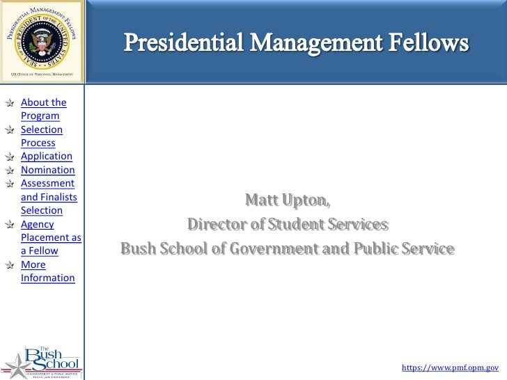 About the Program Selection Process Application Nomination Assessment and Finalists                    Matt Upton, Selecti...