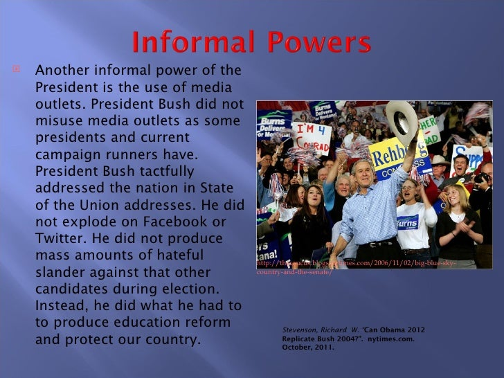 formal and informal powers of the president