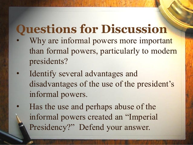 an introduction to the presidential and congressional powers The two primary legislative powers of the president include the ability sign bills approved by congress and pass them into law and to veto them even if a president.