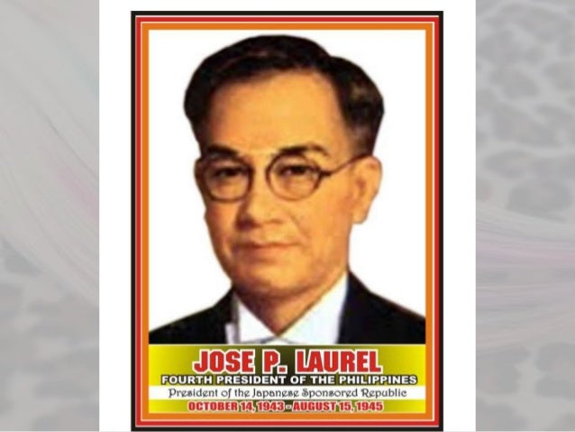 essays of jose p. laurel The second philippine republic was held at the pre-war legislative building and it elected by majority benigno s aquino as its first speaker and josé p laurel.