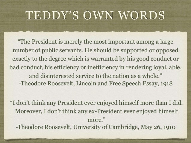 president on the presidency teddy s own words theodore roosevelt