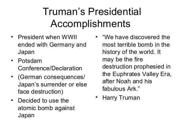 harry truman accomplishments