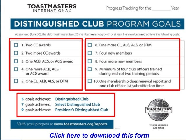 How To Be A Toastmasters Club President