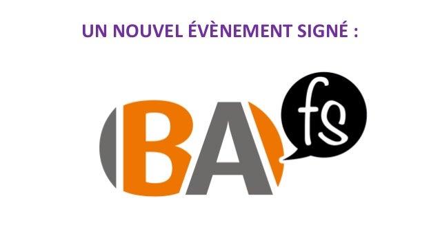BAFS 2015 Paris : Introduction par Cédric Berger