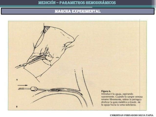 MEDICIÓN – PARAMETROS HEMODINÁMICOS       Marcha experimental                                CHRISTIAN FERNANDO SILVA TAPIA
