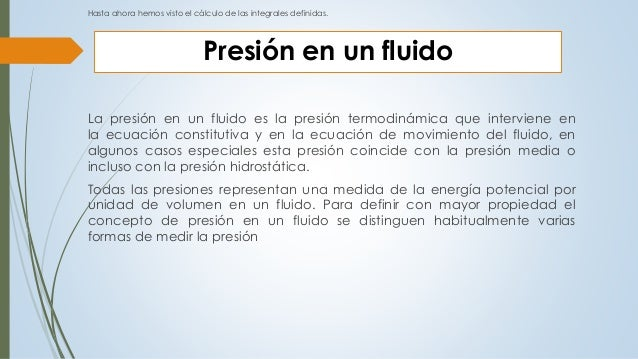 Integral definida aplicada a Presion hidrostatica  Slide 3