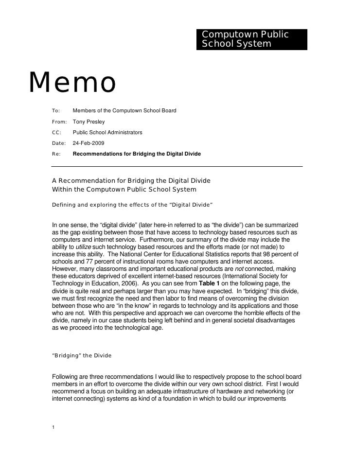 Sample Memorandum – Sample Memos
