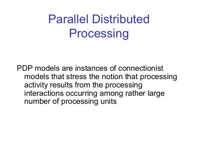 Distributed parallel processing thesis
