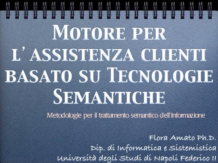 <ul><li>Metodologie per il trattamento semantico dell ' Informazione  </li></ul>