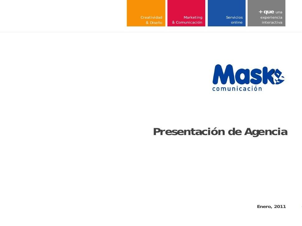 + que una     Creatividad        Marketing        Servicios     experiencia        & Diseño   & Comunicación          onli...