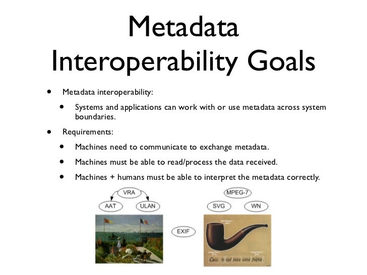 metadata information for the relationship
