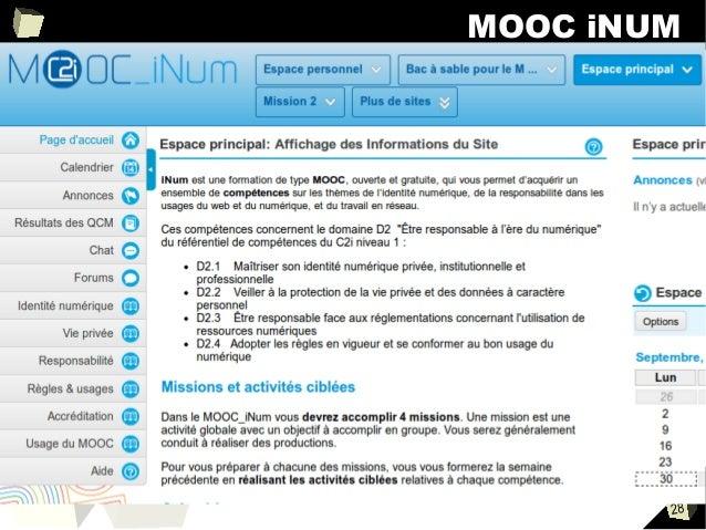 MOOC iNUM ■  28