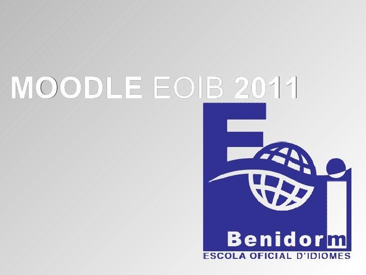 MOODLE  EOIB  2011