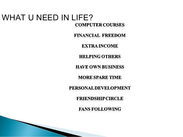 WHAT U NEED IN LIFE?  UTER COURSE COMP  S