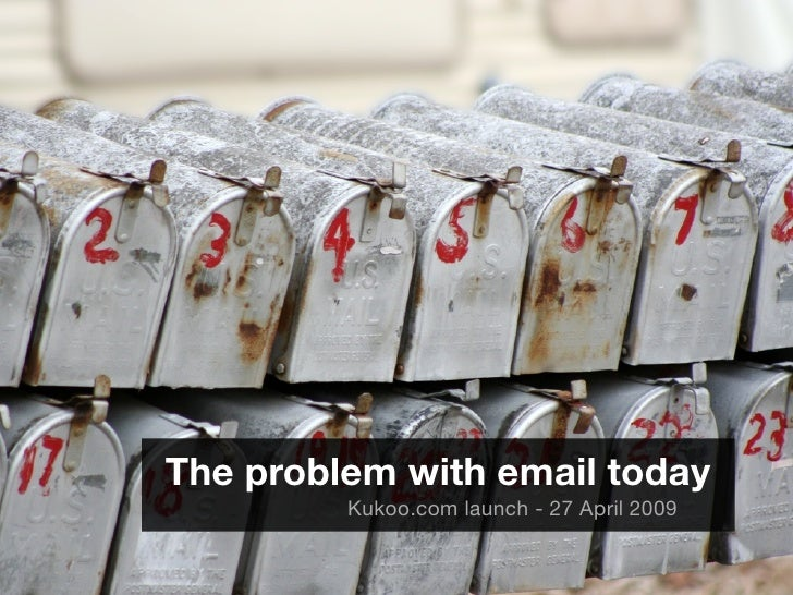 The problem with email today          Kukoo.com launch - 27 April 2009