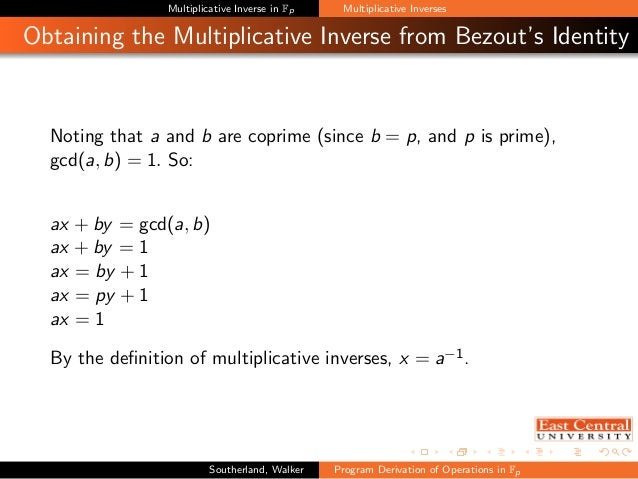 Program Derivation of Operations in Finite Fields of Prime Order