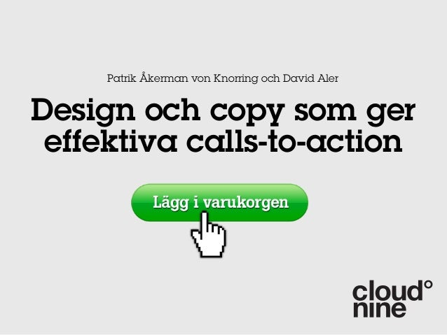 Patrik Åkerman von Knorring och David AlerDesign och copy som ger effektiva calls-to-action